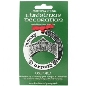 Silver Plated Christmas Decoration Oxford 0977